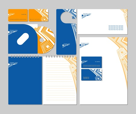 calling art: Business templates Illustration