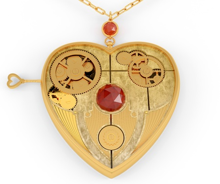 Mechanical heart. Jewelry  photo