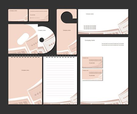 name calling: Business templates Illustration