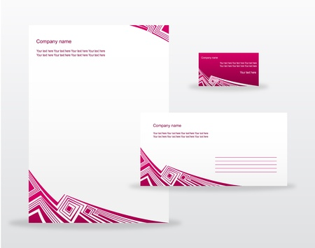 headed: Business templates Illustration