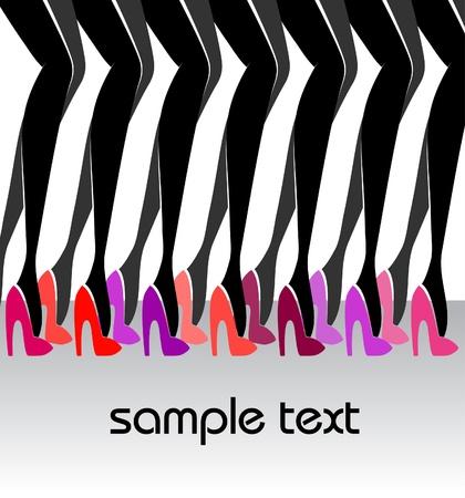 Beautiful female legs  Fashion Illustration Stock Vector - 12710119