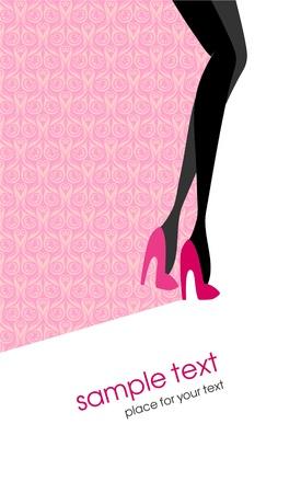 Fashion Illustration  Slender women s feet Stock Vector - 12710122