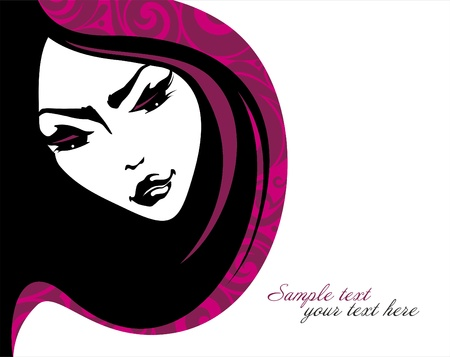 Beauty girl  Vector illustration  Place for your text Vector