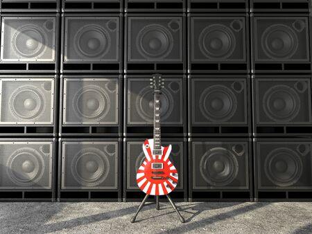 Japanese guitar  photo