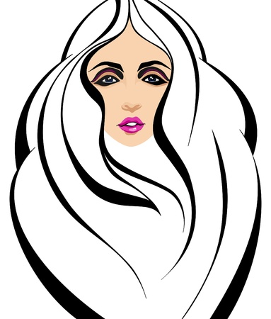 Fashion girl face _Vector illustration Vector