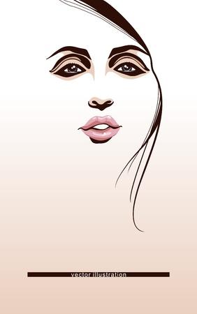 sexy black woman: Beauty face_Girl portrait