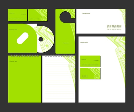 name calling: Business style templates_Vector illustration