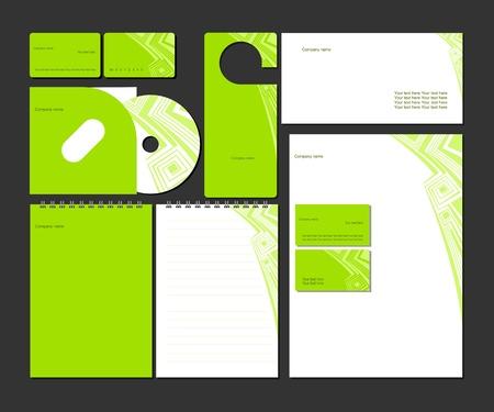 hojas membretadas: El estilo de negocios templates_Vector ilustración