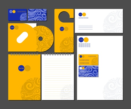 calling art: Business style templates_Vector illustration