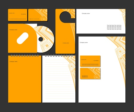 corporate identity template: Business style_vector corporate identity template
