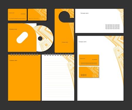 identidad: Empresas style_vector plantilla de identidad corporativa