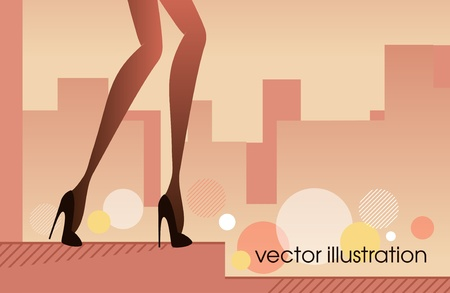 Woman legs in shoes_Fashion illustration