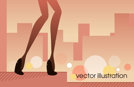 Woman legs in shoes_Fashion illustration Stock Vector - 13090344