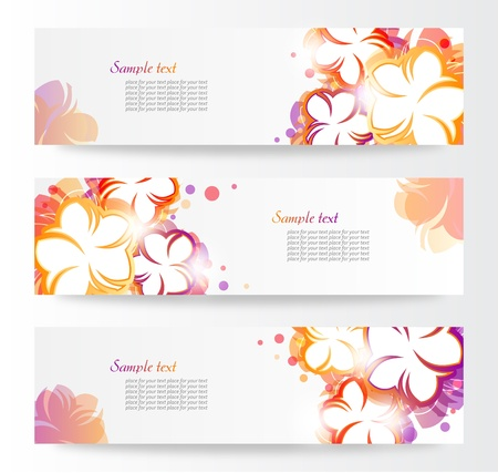 Flower banners  Stock Vector - 13681630