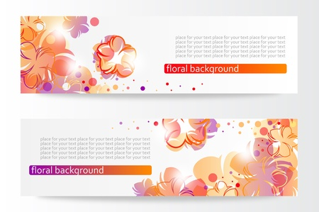 Flower banners  Stock Vector - 13681629