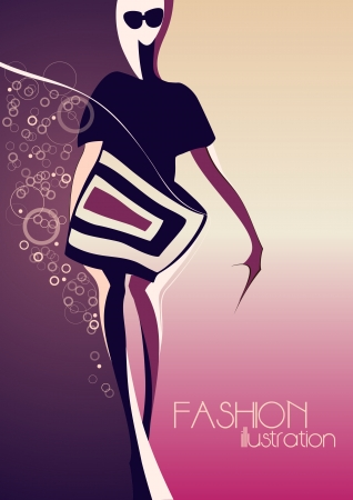 Fashion model  Fashion illustration  Stock Vector - 13705234