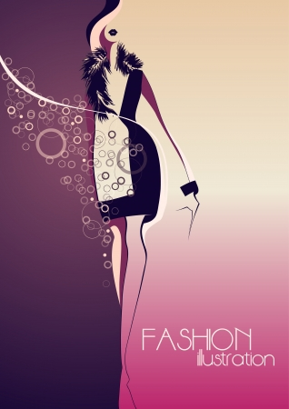 Fashion model  Fashion illustration  Vector