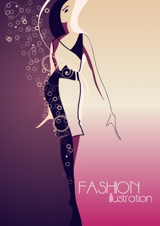 Fashion model  Fashion illustration Stock Vector - 13705235