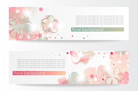 Flower banners Stock Vector - 14000213