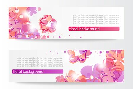 beautiful horizontal floral banners Stock Vector - 13813353
