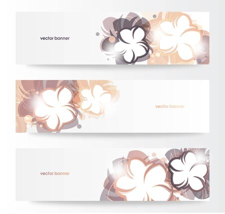 Vector beautiful horizontal floral banners  Stock Vector - 14000215