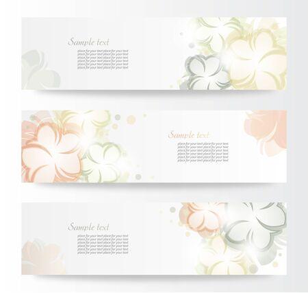 Vector beautiful horizontal floral banners  Stock Vector - 13969378