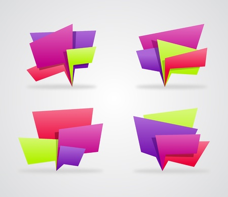 big boxes: Collection of colorful speech bubbles illustration