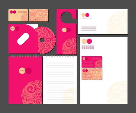 card file: Business style template illustration