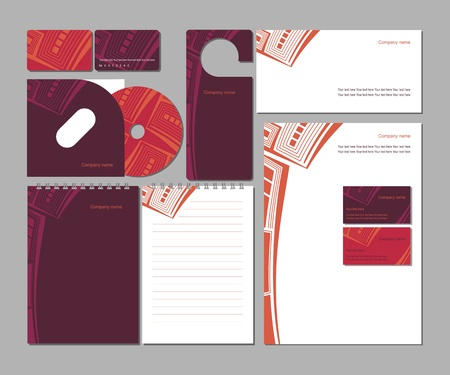 stationary set: Abstract corporate style