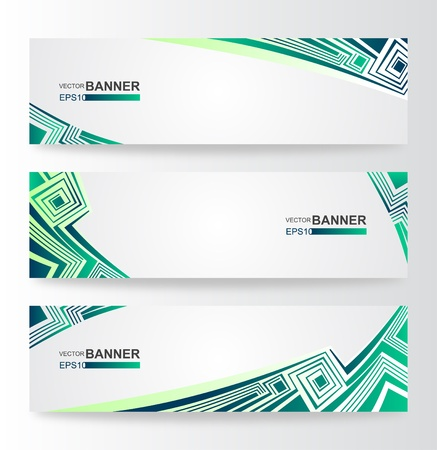 Abstract modern banner set design