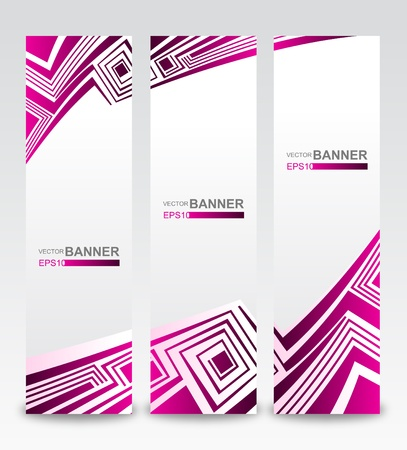 Vector Vertical Banner  Illustration