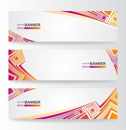 Colorful Abstract Banner Stock Vector - 13798772