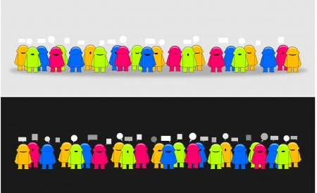 social issues: Social media network_Vector illustrazione Vettoriali