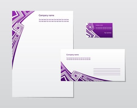 calling art: Business style templates illustration