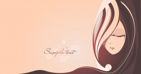 Abstract background with fantasy women s face  Vector