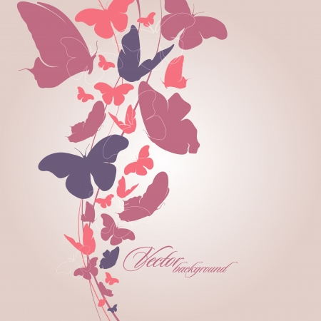 Background with butterfly_Vector   Vector
