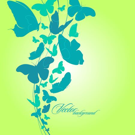 Beautiful abstract background with butterfly   Stock Vector - 15230386