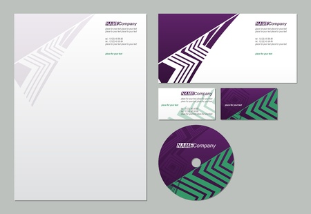 new company: Business style template illustration