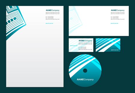 letter envelopes: Business style template_Vector illustration