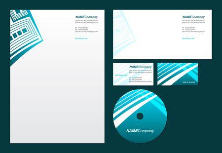 sobres de carta: Estilo Negocios template_Vector ilustración Vectores