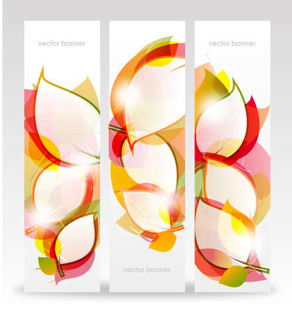 Autumn leaves banners  Vector