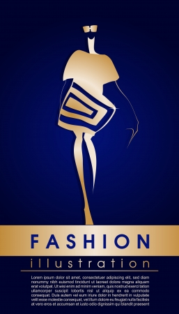 top model: Vector fashion topmodel