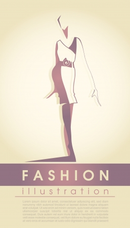Fashion model Stock Vector - 15015792