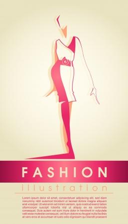 Fashion girl silhouette Stock Vector - 14978958