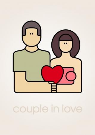 Love couple icon_Vector illustration  Vector