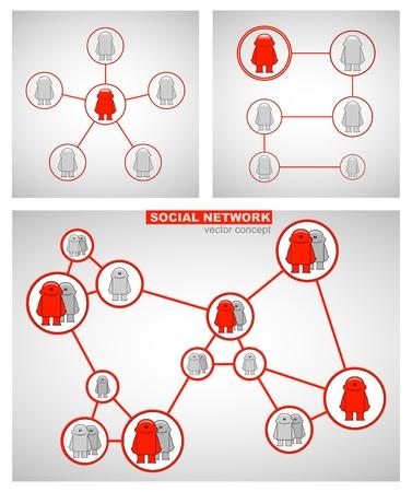 sociology: Social network_Concept  Illustration