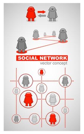 Social network_Concept Stock Vector - 15015689