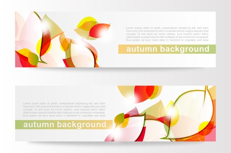 fryer: Autumn leaves banners  Illustration