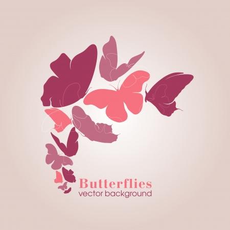 butterflies background design Stock Vector - 15095106
