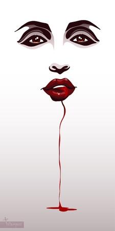 Vampire face_Background na halloween
